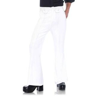 Leg Avenue Men Costume's Men's Bell Bottom Pants Sml/Med White