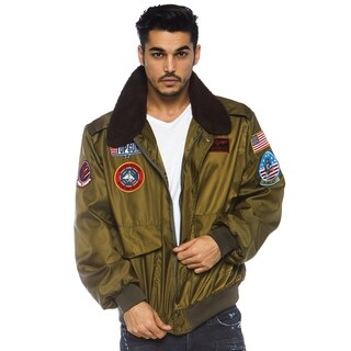 Leg Avenue Men Costume's Top Gun Men's Nylon Bomber Jacket With Interchangeable Name Badges.
