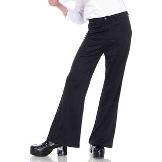 Leg Avenue Men Costume's Men's Bell Bottom Pants Sml/Med Black
