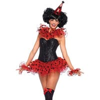 Leg Avenue Women's  3 Piece Clown Costume Kit  , O/S, Red/Black