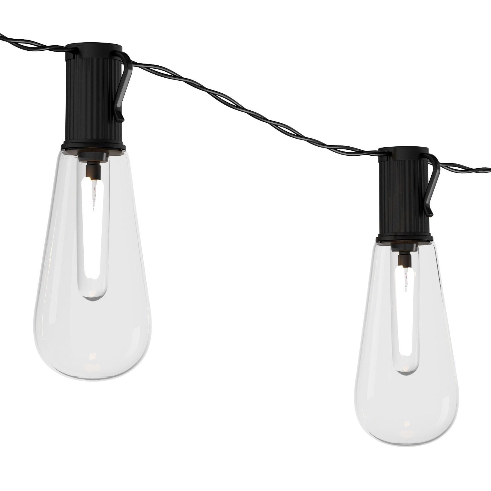 Outdoor Solar String Lights Vintage Style Bulbs Pure Garden On Sale Overstock 23556583
