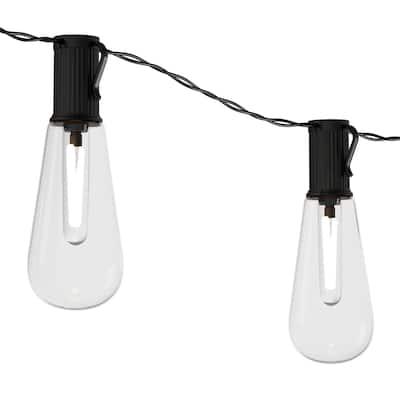 Outdoor Solar String Lights Vintage Style Bulbs Pure Garden