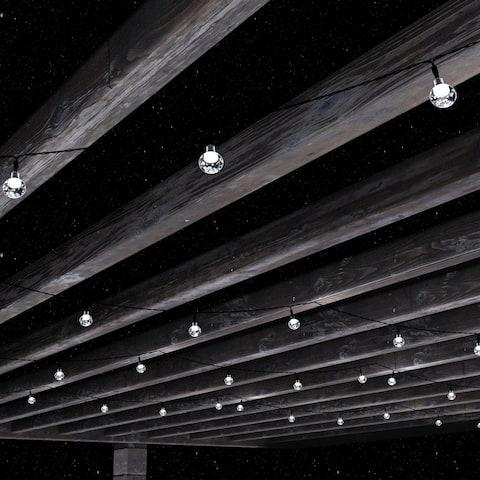 Boynton Solar-powered Hanging Globe White String Lights by Havenside Home