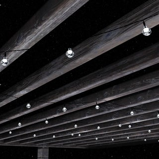Outdoor Solar String Lights Hanging Globe White Pure Garden
