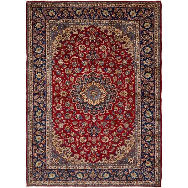 Shop Hand Knotted Isfahan Semi Antique Wool Area Rug
