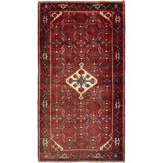 Hand Knotted Hossainabad Semi Antique Wool Area Rug - 5' x 9' 2