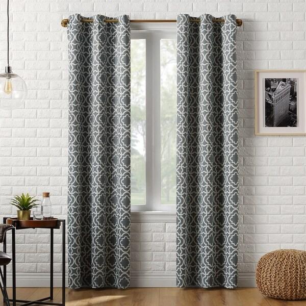 Sun Zero Barnett Trellis Blackout Grommet Curtain Panel