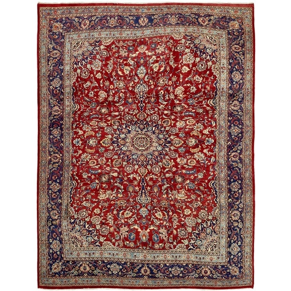 Hand Knotted Persian Isfahan Wool Area Rug: Shop Hand Knotted Isfahan Wool Area Rug