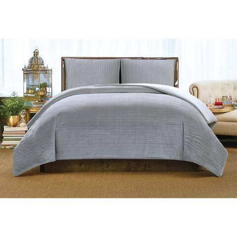 Christian Siriano Crinkle Luster Velvet 3 Piece Comforter Set