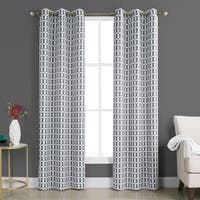 Sun Zero Murphy Geometric Blackout Rod Pocket Curtain Panel