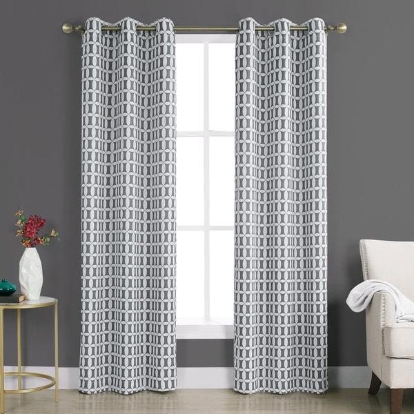 Shop Sun Zero Murphy Geometric Blackout Rod Pocket Curtain
