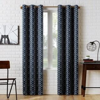 Sun Zero Kenwood Chevron Blackout Grommet Curtain Panel