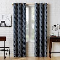 Sun Zero Kenwood Chevron Blackout Grommet Curtain Panel