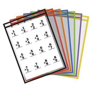 Thornton's Office Supplies Reusable Dry Erase Pockets, 9 x 12 Inches, Choice of Quantity