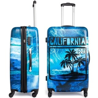 Maui and Sons Cali Expandable Hardside Spinner Luggage, TSA lock, 28""