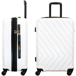 "V19.69 Italia Arrow 24"" Expandable Hardside Spinner Luggage, TSA Lock"