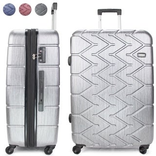 Miami CarryOn Rugged Polycarbonate Spinner Luggage, TSA Lock, 28""