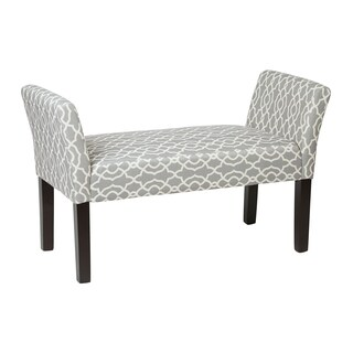 OSP Home Furnishings Mid-Century Kelsey Bench