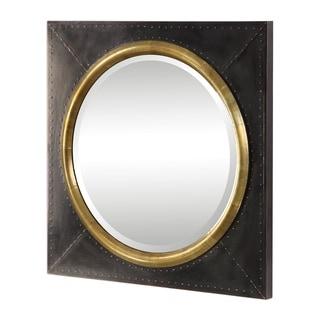 Uttermost Tallik Dark Bronze and Copper Urban Industrial Mirror - 30.125x30.125x2