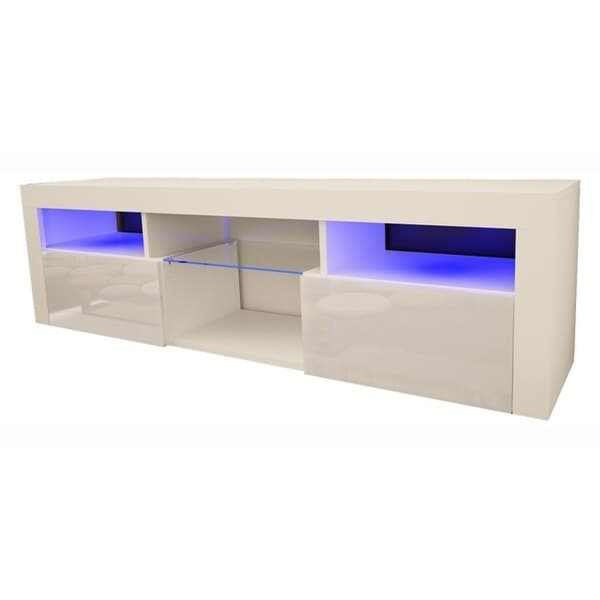 Shop Bari 160 Wall Mounted Floating 63 Tv Stand With 16 Color Leds