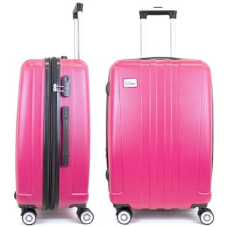 Miami CarryOn Expandable Hardside Spinner Luggage w/ Combo Lock, 24""