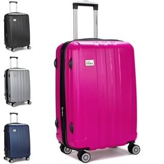 """Miami CarryOn Expandable Hardside Spinner Luggage w/ Combo Lock, 24"""""""