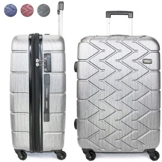 Miami CarryOn Rugged Polycarbonate Spinner Luggage, TSA Lock, 24""