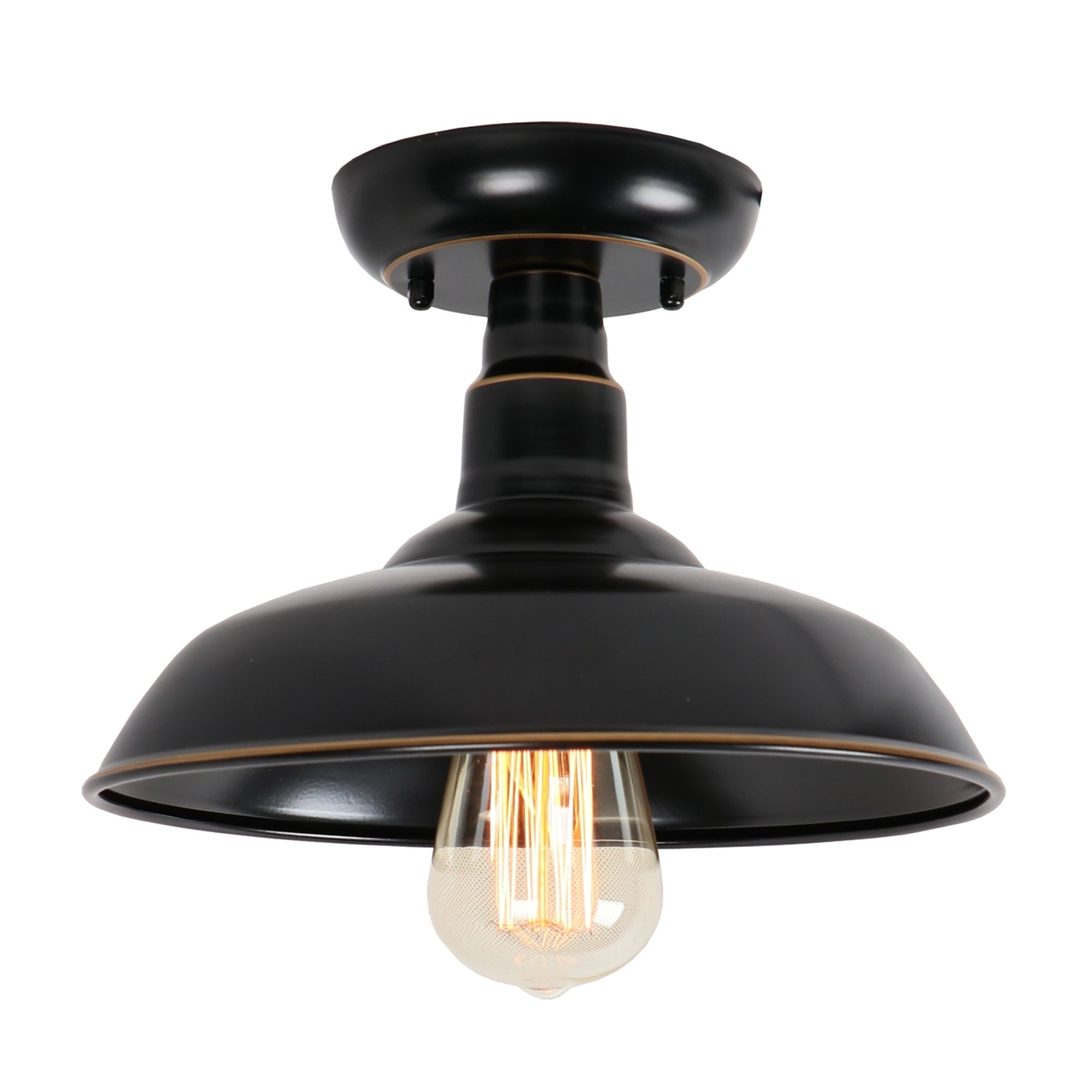 Wondrous 1 Light Outdoor Ceiling Mounted Lighting In Imperial Black Download Free Architecture Designs Intelgarnamadebymaigaardcom