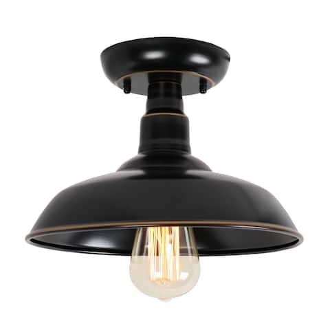 1 Light Outdoor Ceiling Mounted Lighting in Imperial Black