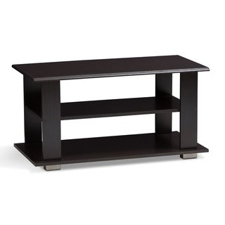 Urban Designs Mikayla Wooden Coffee Table in Wenge Brown Finish - wood