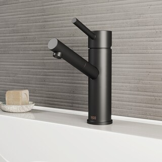 VIGO Noma Matte Black Single Hole Bathroom Faucet