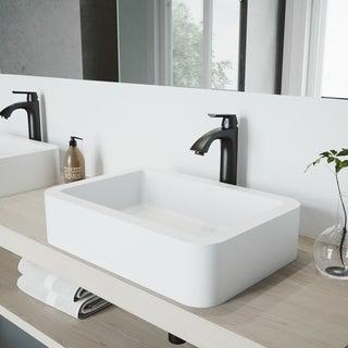 VIGO Linus Matte Black Vessel Bathroom Faucet