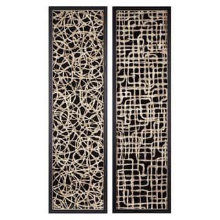 Link to Trisha Yearwood Black Canyon Handmade Paper Wall Decors (Set of 2) Similar Items in Wood Wall Art