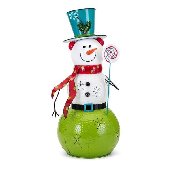 Whimsy Christmas Multi-color Large Snowman Lantern