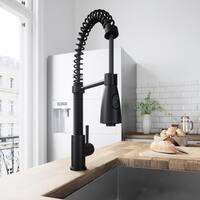VIGO Brant Matte Black Pull-Down Spray Kitchen Faucet