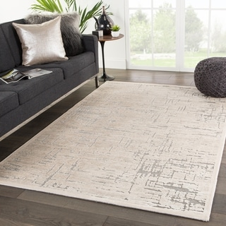 """Eimes Abstract Beige/ Brown Area Rug - 5' x 7'6"""""""