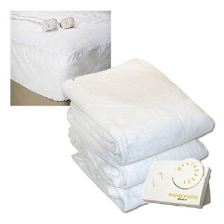 Pure Warmth 5900-9081RM-100 Twin Size Heated Mattress Pad Natural - White