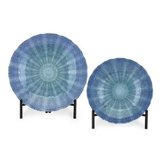 Brynlee Blue Glass Chargers (Set of 2)