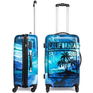 Maui and Sons Cali Expandable Hardside Spinner Luggage, TSA lock, 24""
