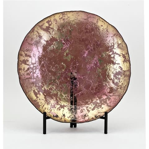 Madori Textured Lilac Glass Charger with Stand