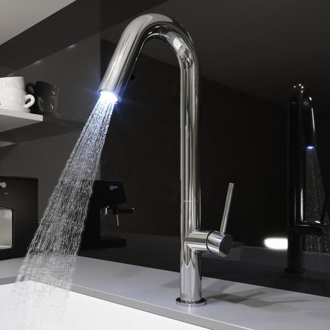 VIGO Oakhurst Chrome LED Pull-Down Spray Kitchen Faucet