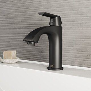 VIGO Penela Matte Black Single Hole Bathroom Faucet