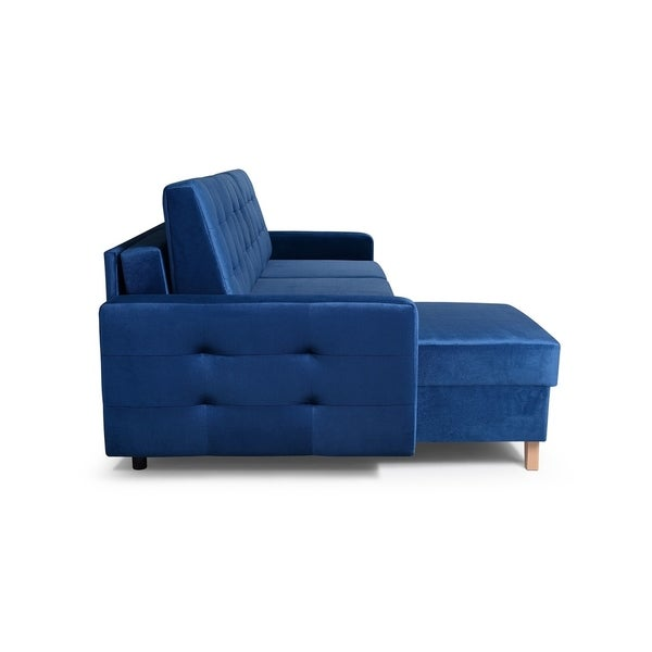 Shop Vegas Futon Sectional Sofa Bed, Queen Sleeper with Storage