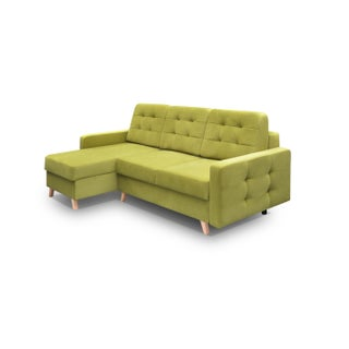 Vegas Futon Sectional Sofa Bed, Queen Sleeper with Storage