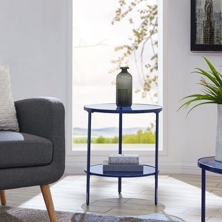 Harper Blvd Lou Blue Glass Side Table