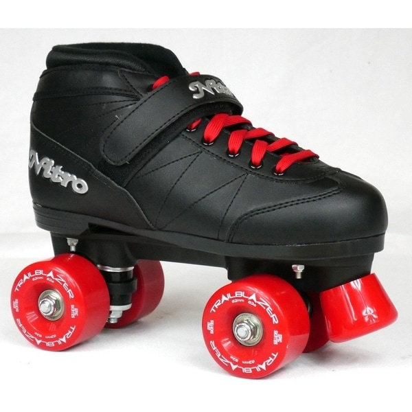 New Custom Epic Super Nitro Cherry Cola Black Red Outdoor Quad Roller Skates Free Shipping Today 23558869