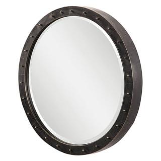 Uttermost Beldon Dark Bronze Round Industrial Mirror
