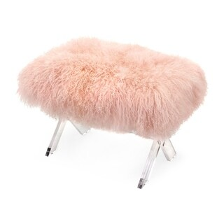 Camlin Tibetan Fur and Clear Acrylic Bench