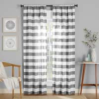 No. 918 Glendale Stripe Semi-Sheer Rod Pocket Curtain Panel