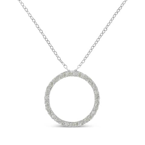 Sterling-Silver 3/4ct TDW Diamond Pendant Necklace (I-J,I3-Promo)